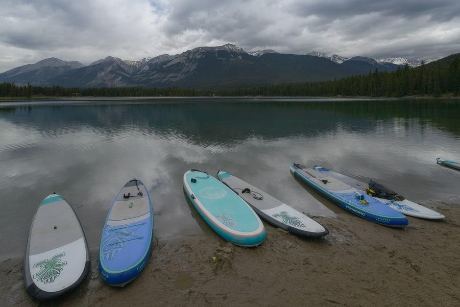 Edith lake kayaking in jasper