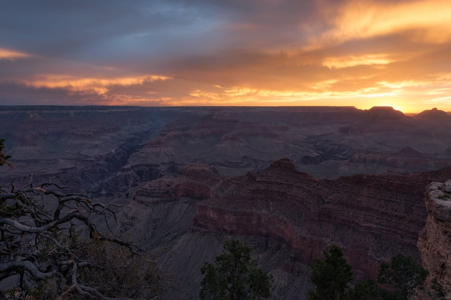 grand canyon sunset best place to see it