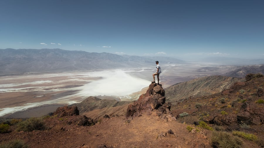 dantes view best viewpoint death valley badwater basin