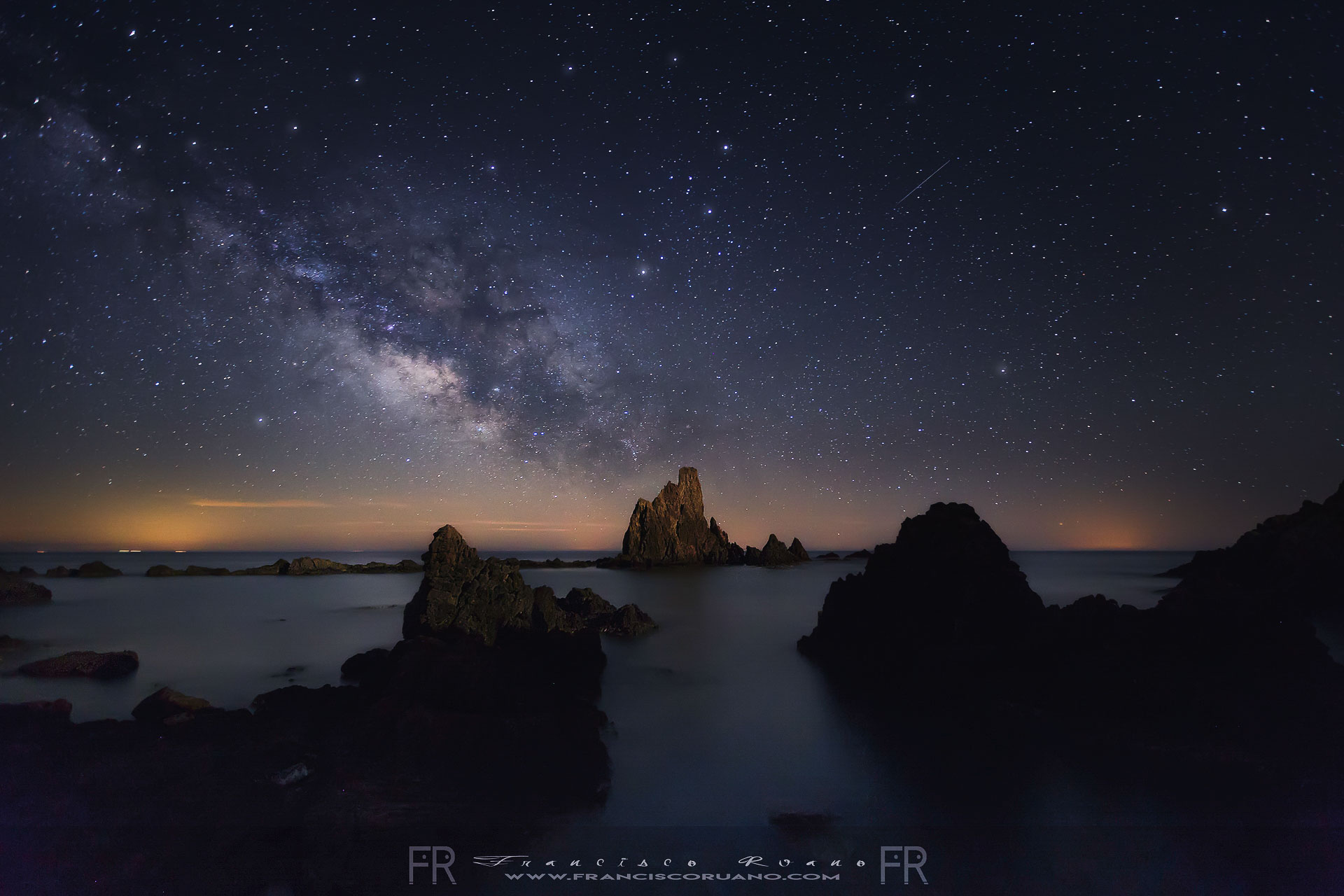 Milky Way stars Spain Almeria reef arrecife