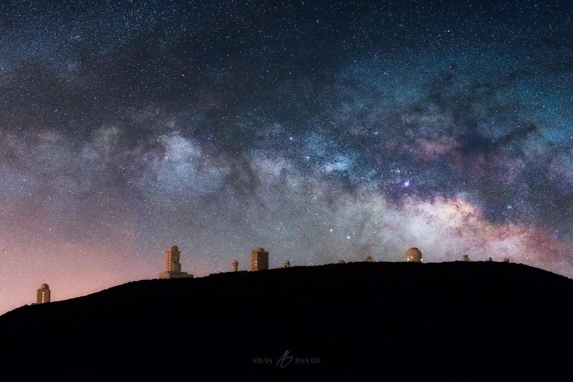 Milky Way Tenerife observatory stars night