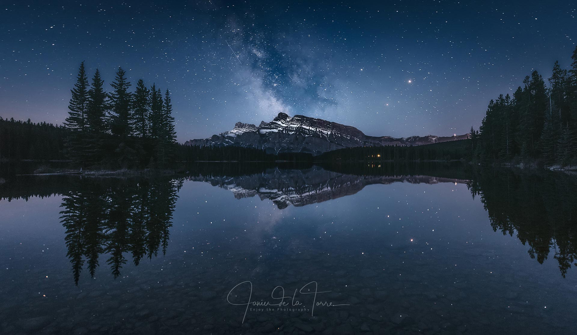 Milky Way Mount Rundle Canada Rocky Mountains photography