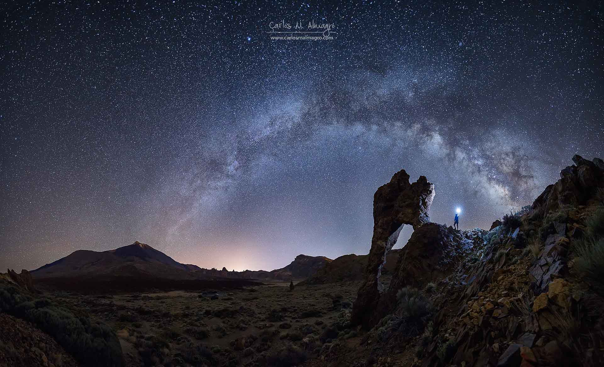 Milky Way night photograph explorer Tenerife Spain