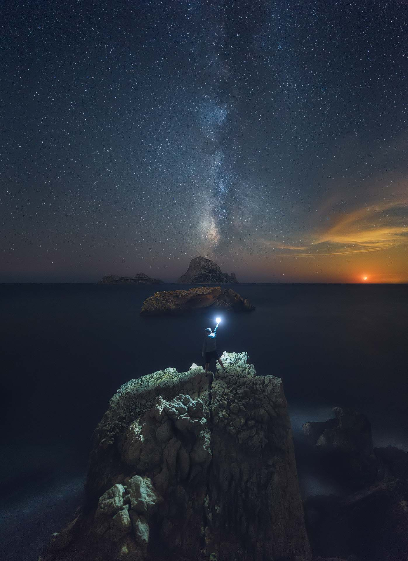 Ibiza Milky Way moonset Es Vedrà Coast Jose Antonio Hervas