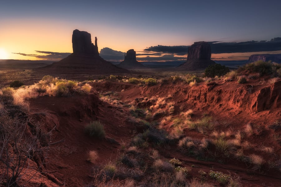 "The awake of the mittens - <a href=""https://capturetheatlas.com/visit-monument-valley/"">Monument Valley.</a> <a href=""https://capturetheatlas.com/10-day-west-coast-usa-trip/"">United States.</a>"