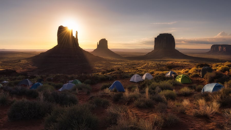 "Valley rising sun - <a href=""https://capturetheatlas.com/visit-monument-valley/"">Monument Valley.</a> <a href=""https://capturetheatlas.com/10-day-west-coast-usa-trip/"">United States.</a>"