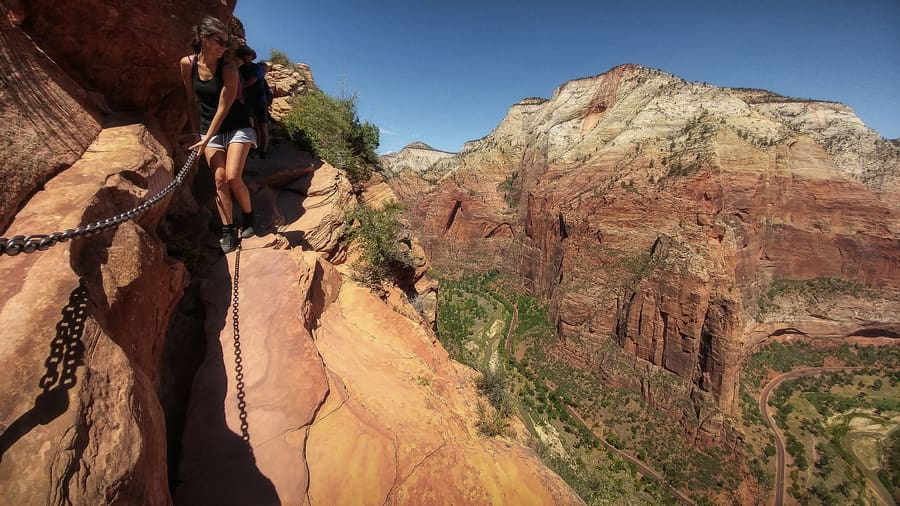 things to do in zion national park in a map
