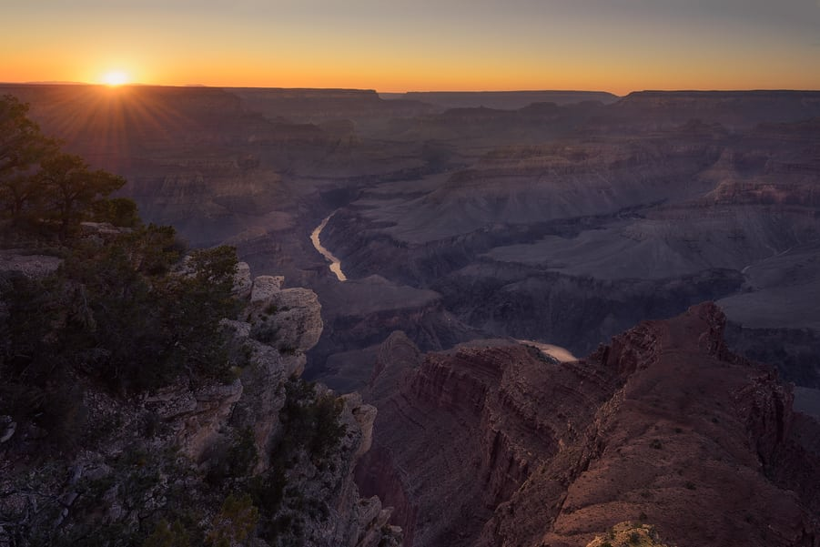 best place to see the sunset in grand canyon