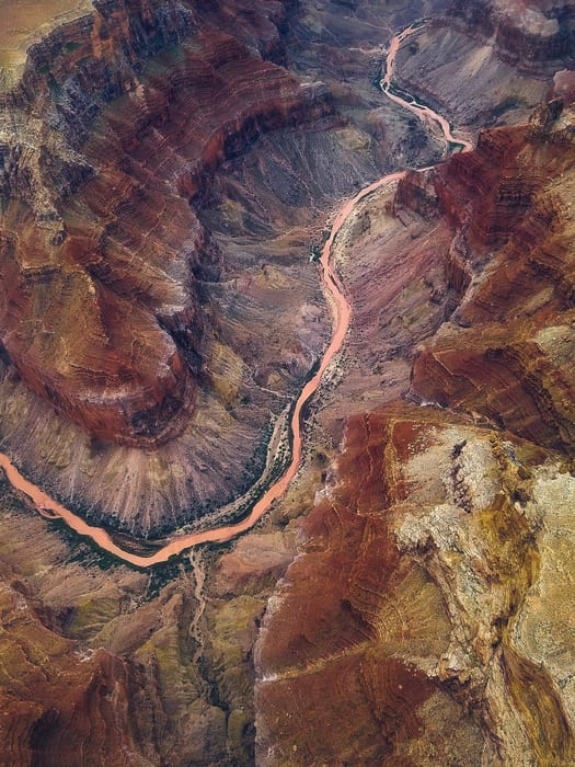 western usa airplane tour grand canyon aerial photography
