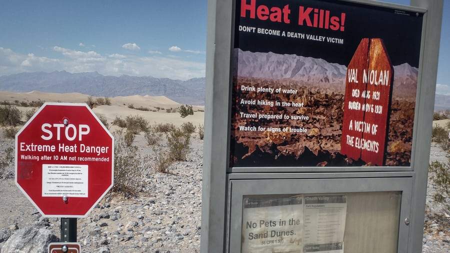 heat kills in death valley signal
