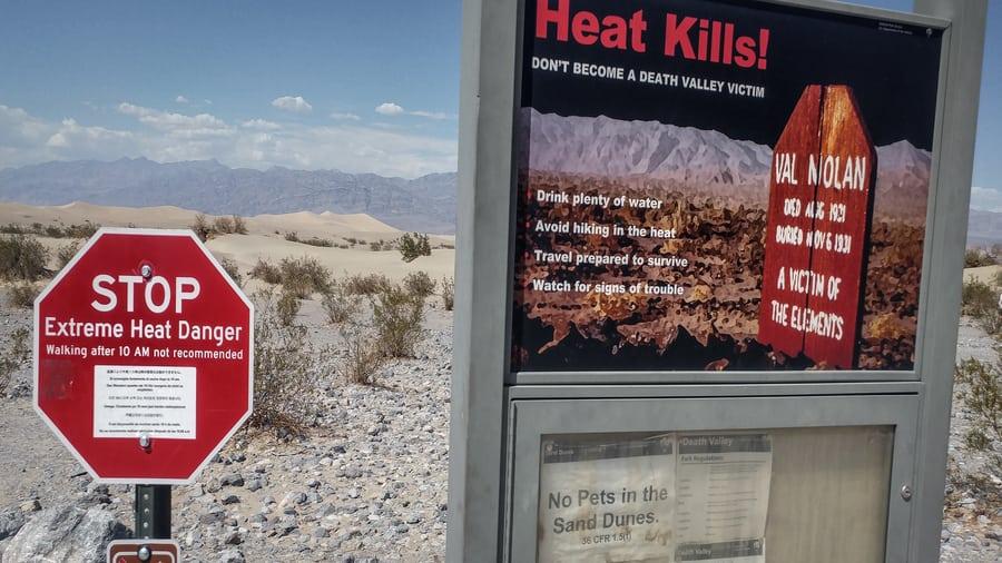 heat kills in death valley signal