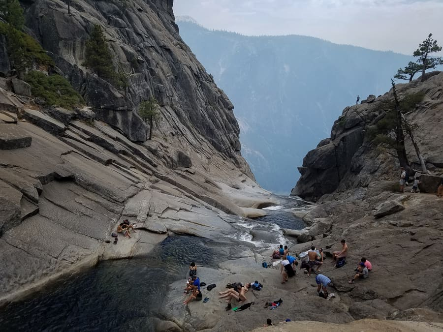 swimming pool in upper yosemite falls