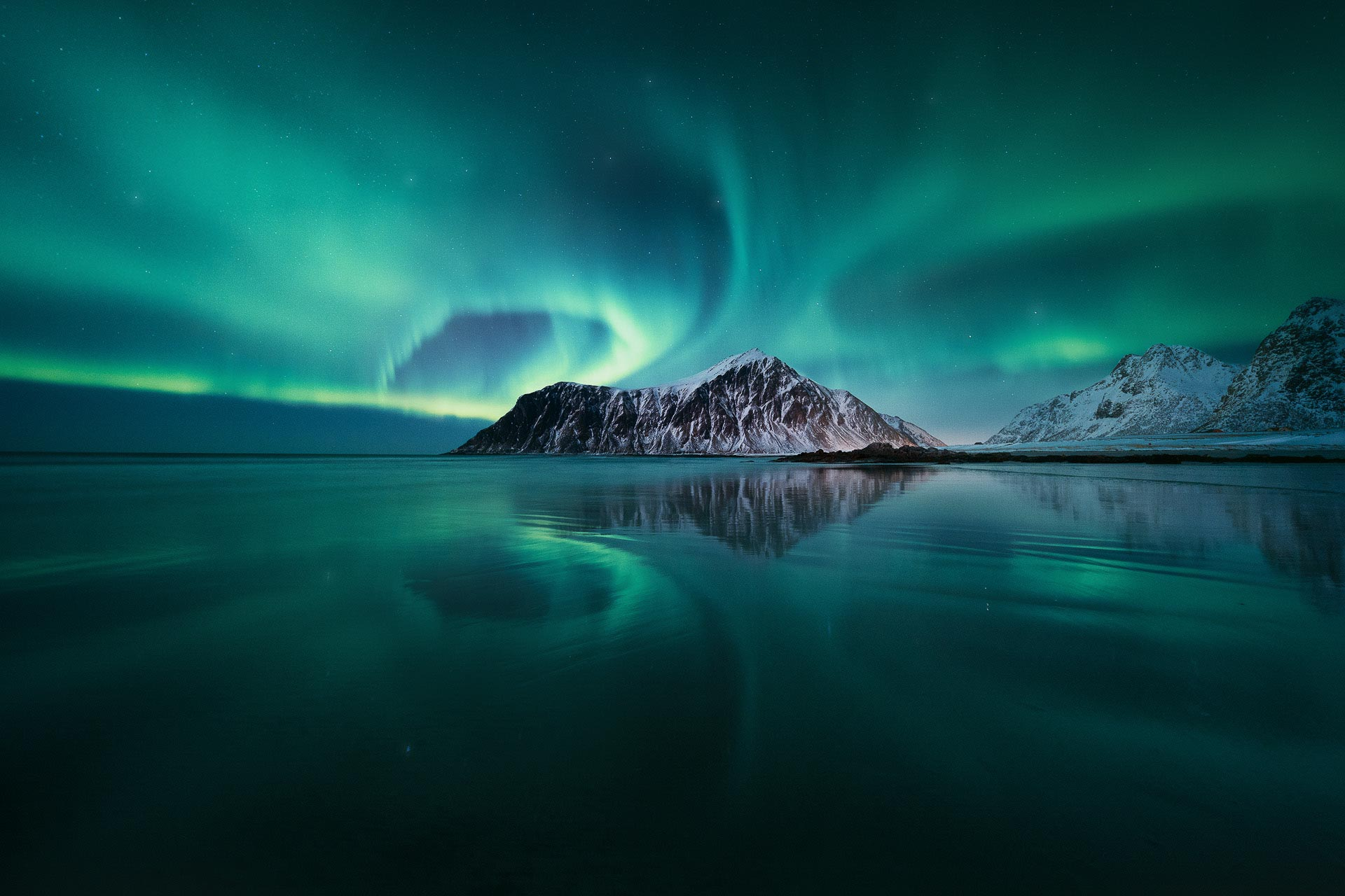 Northern Lights Norway Lofoten Islands Skagsanden Aurora Borealis