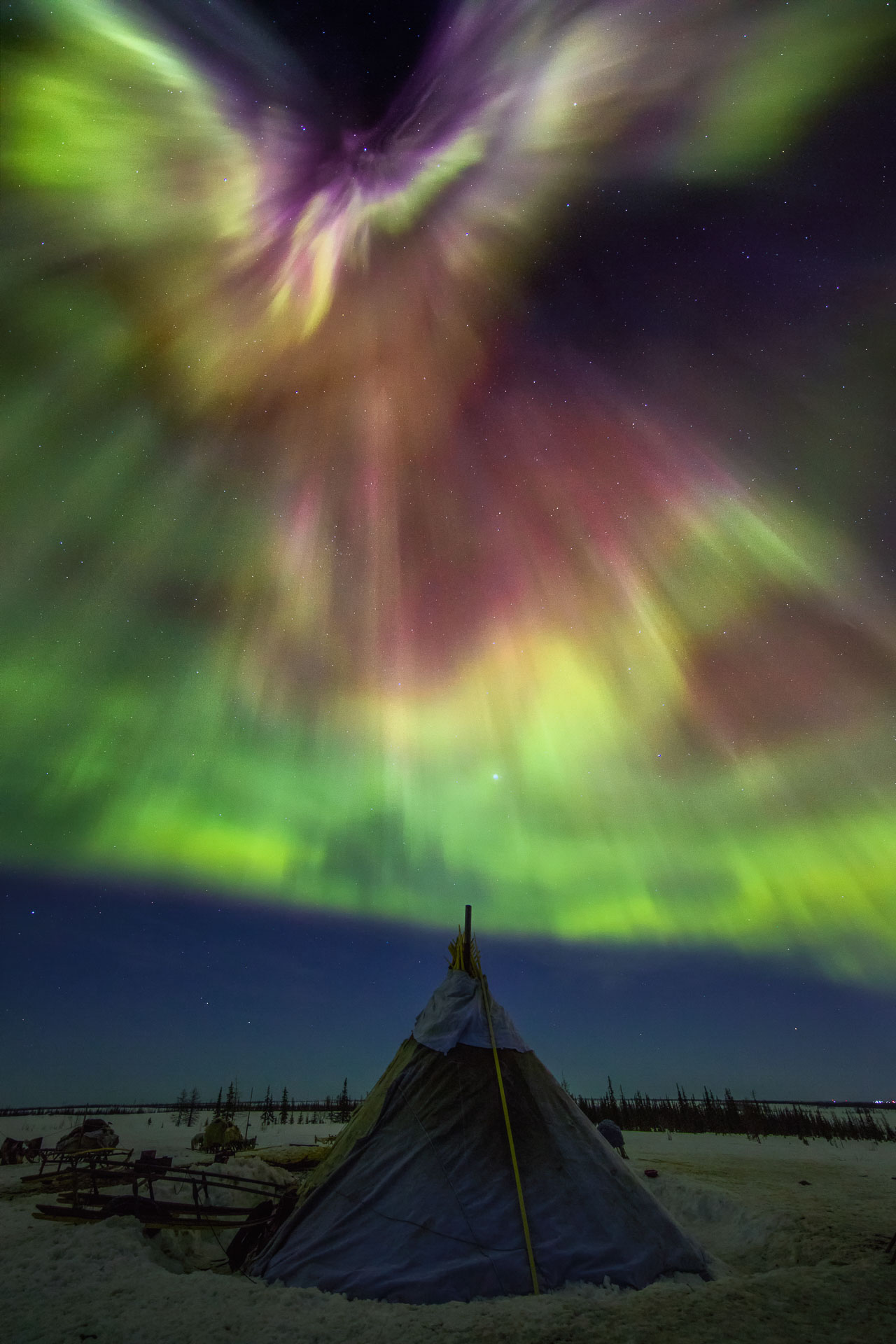 Northern Lights images Russia Yamal Aurora Borealis