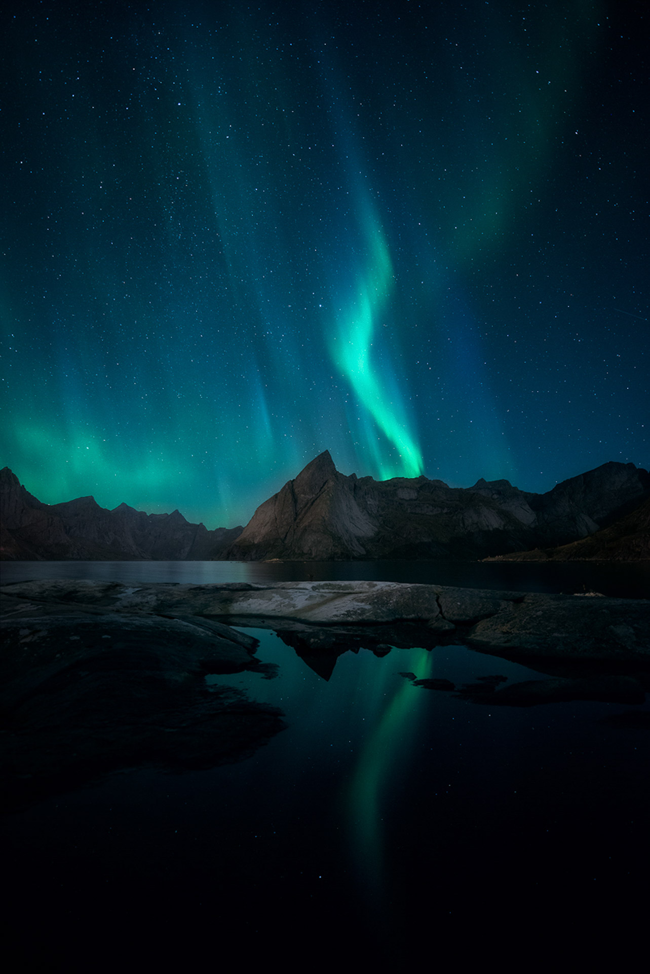Northern Lights Reine Lofoten Norway Aurora Borealis