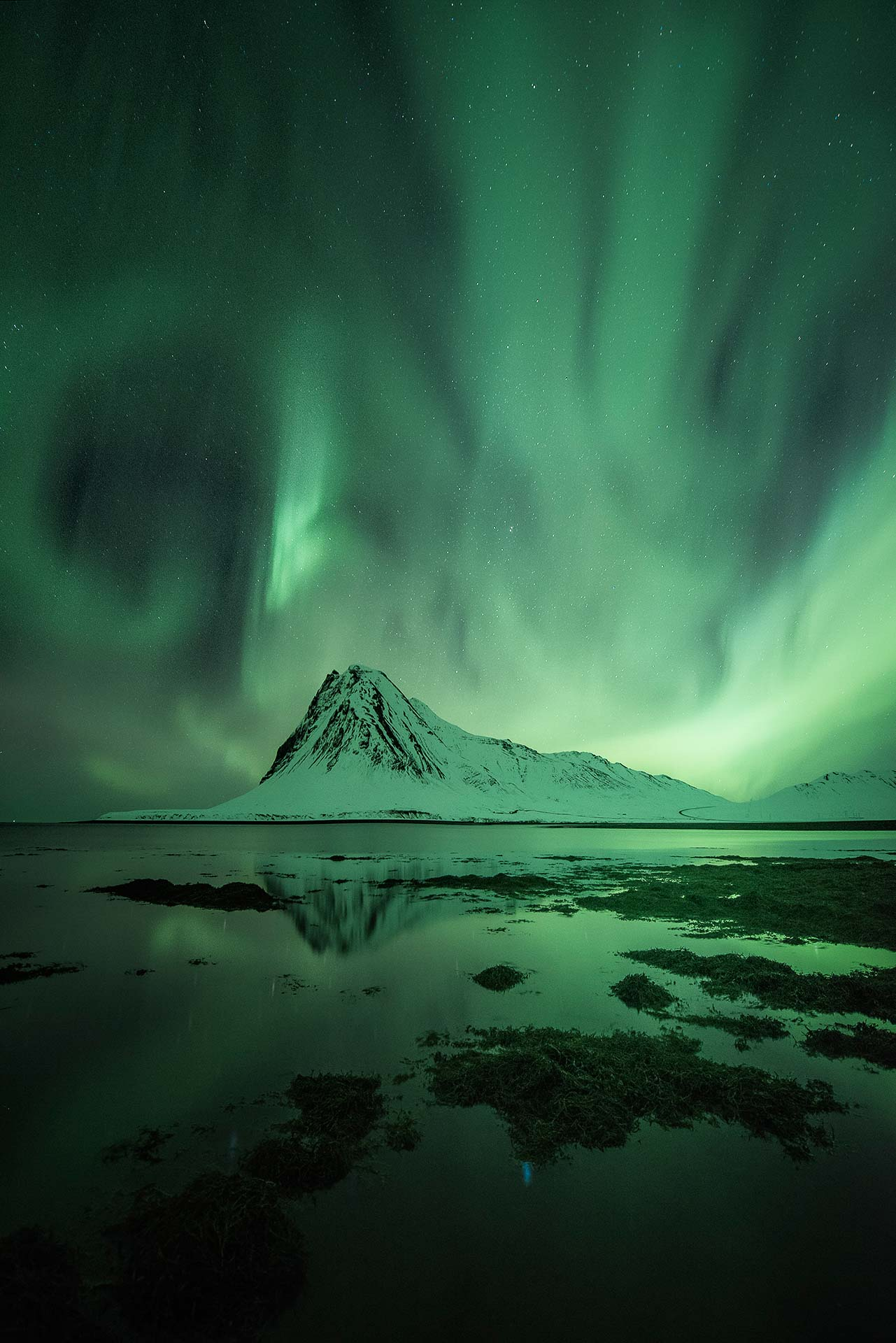 Northern Lights Iceland solar storm solar wind G3 KP9