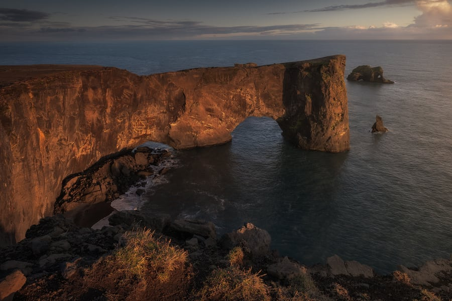 plan iceland vacation Dyrhólaey arch best sunset