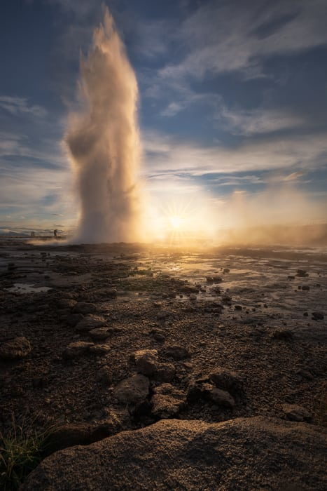 main landmark in iceland golden circle geysir