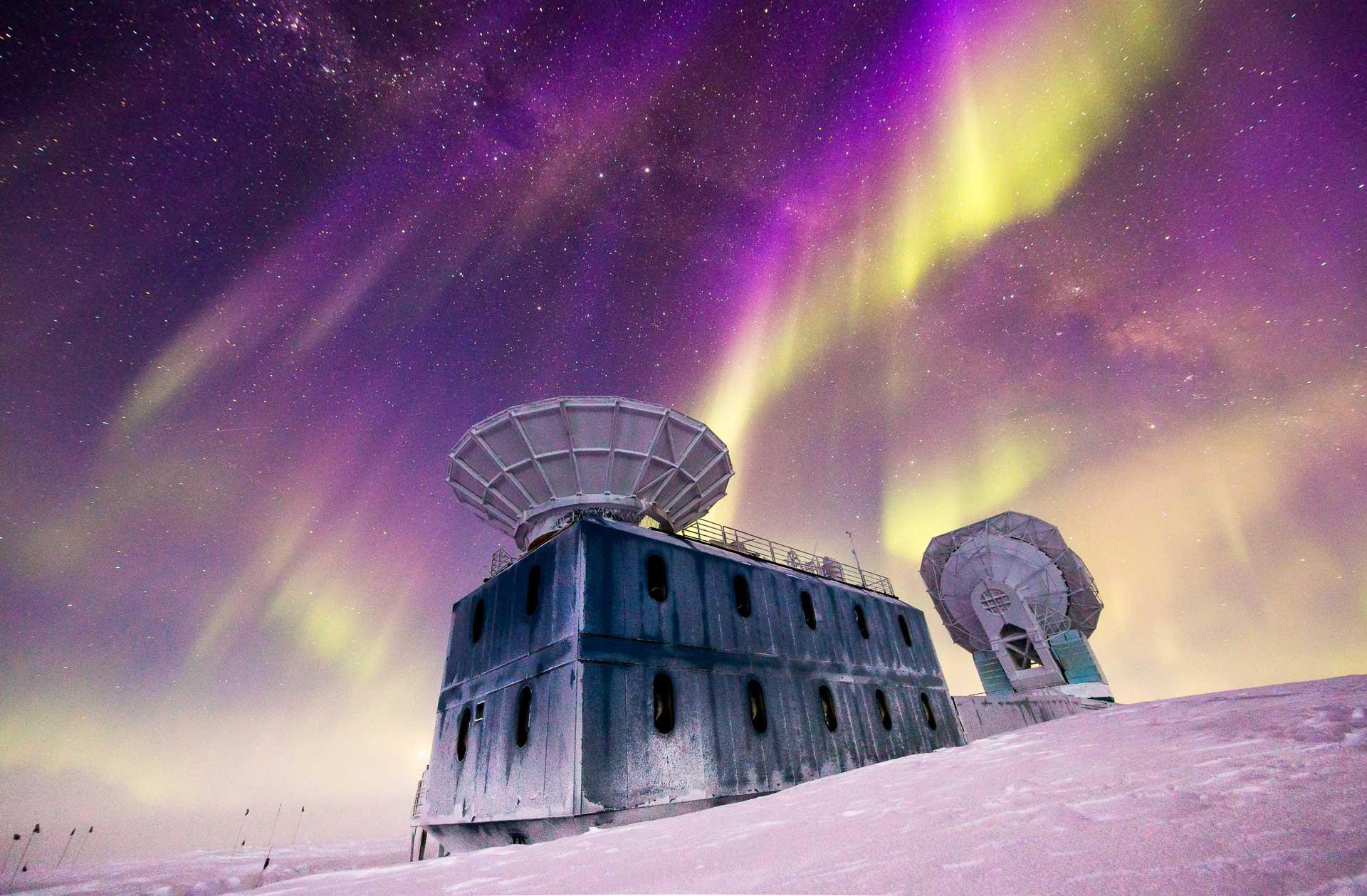 Aurora Borealis Antarctica Southern Lights South Pole