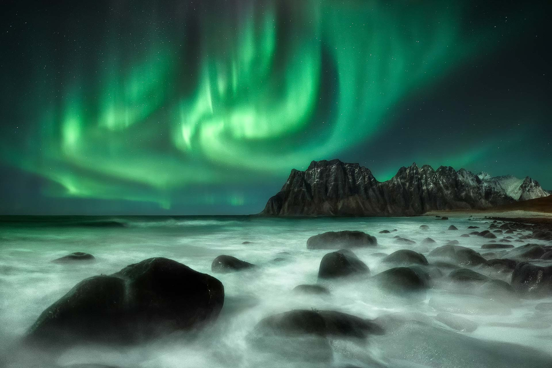 Northern Lights Lofoten Norway Uttakleiv