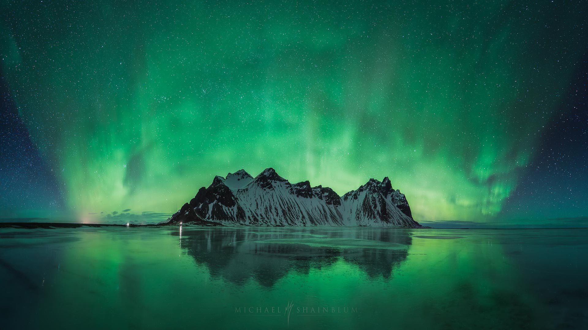 Northern Lights Stokksnes Aurora Iceland Island