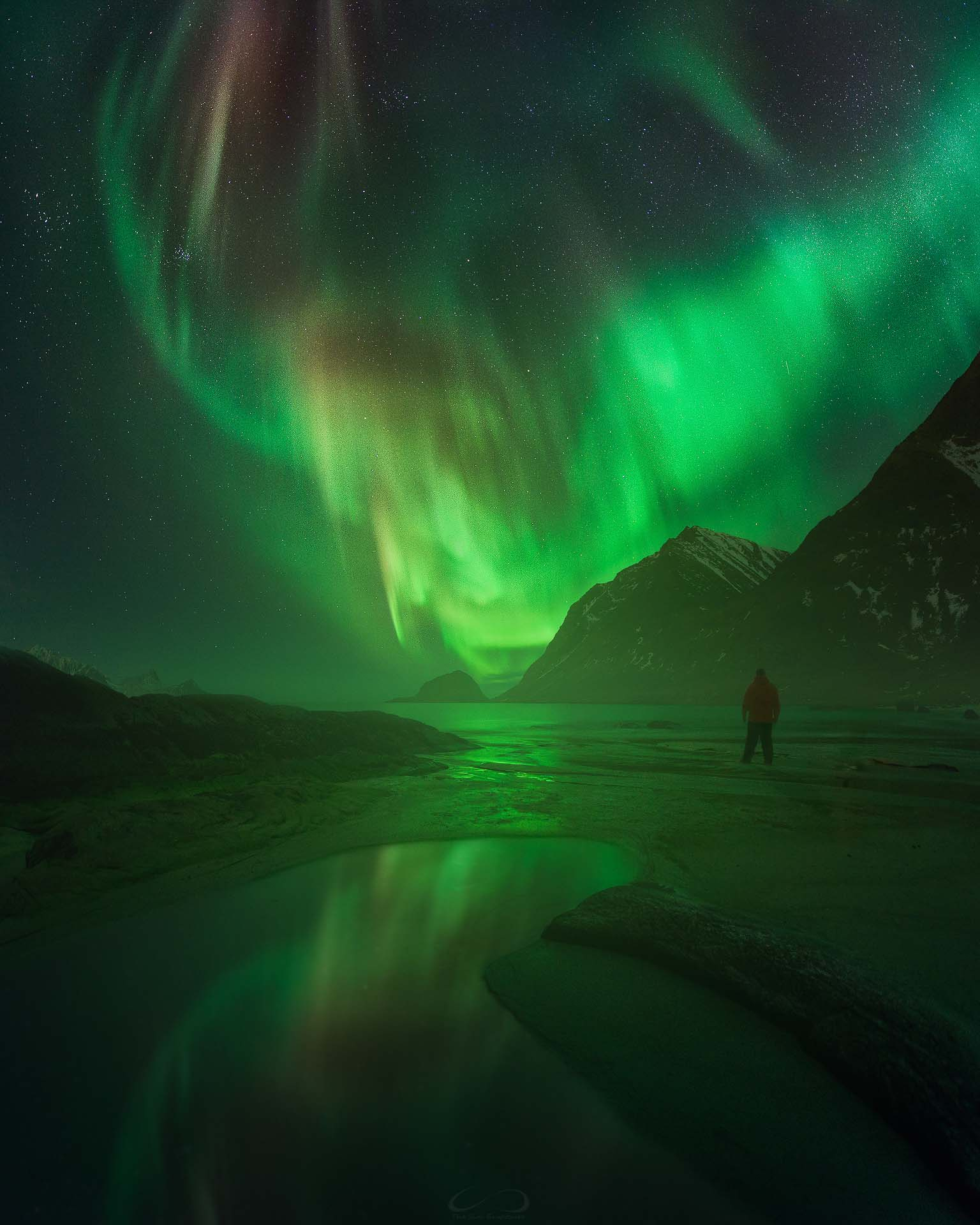 Northern Lights Norway Haukland Lofoten Islands Aurora Borealis