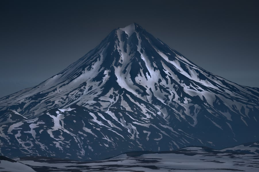 volcán Vilyuchik visto desde el volcan gorely kamchatka viaje fotografico