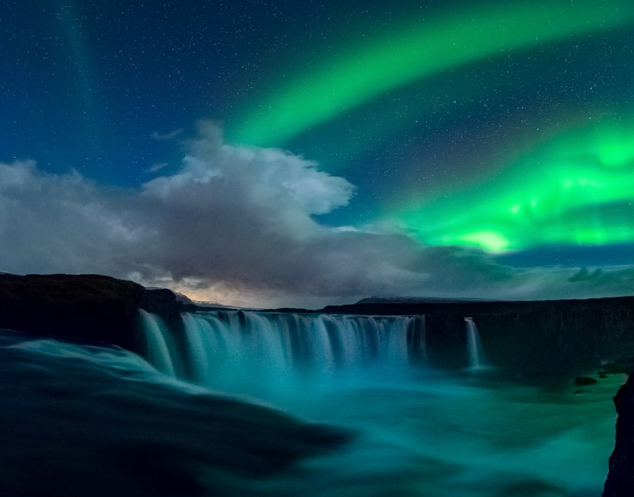 best time to see northern lights in iceland godafoss