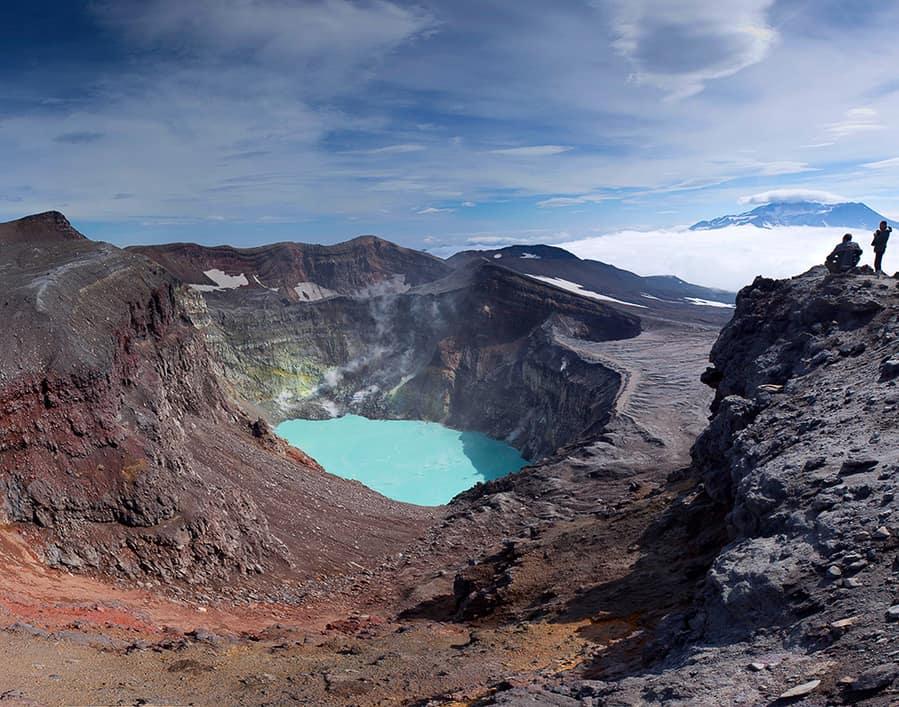 lago azul crater volcan gorely mejores vistas