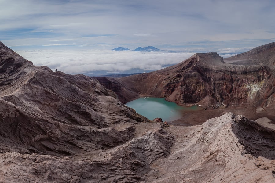 gorely volcano crater kamchatka workshop for photographers