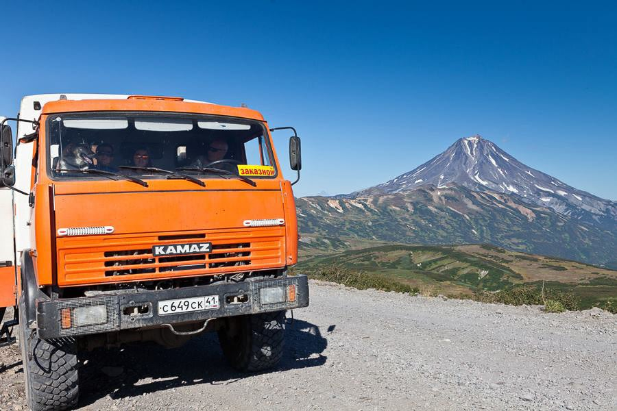 vehiculo 6 ruedas kamaz kamchatka rusia transporte viaje