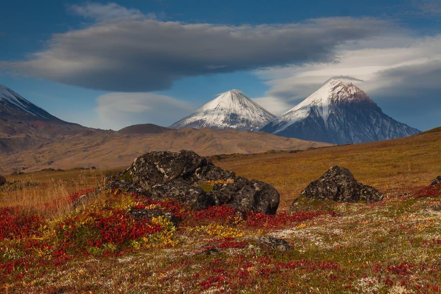 kamen volcanoe kamchatka russia