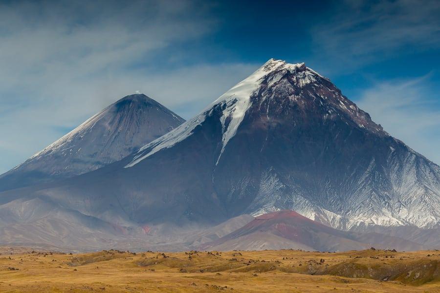 volcanoes Klyuchevskoy and Kamen kamchatka landscape photo tour