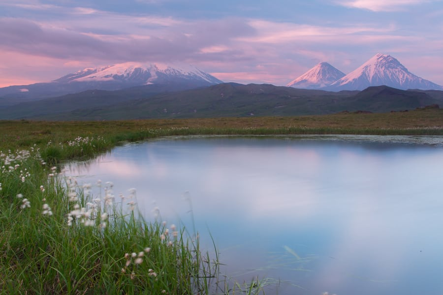 volcan Kliuchevskoi y kamen viaje fotografico a kamchatka