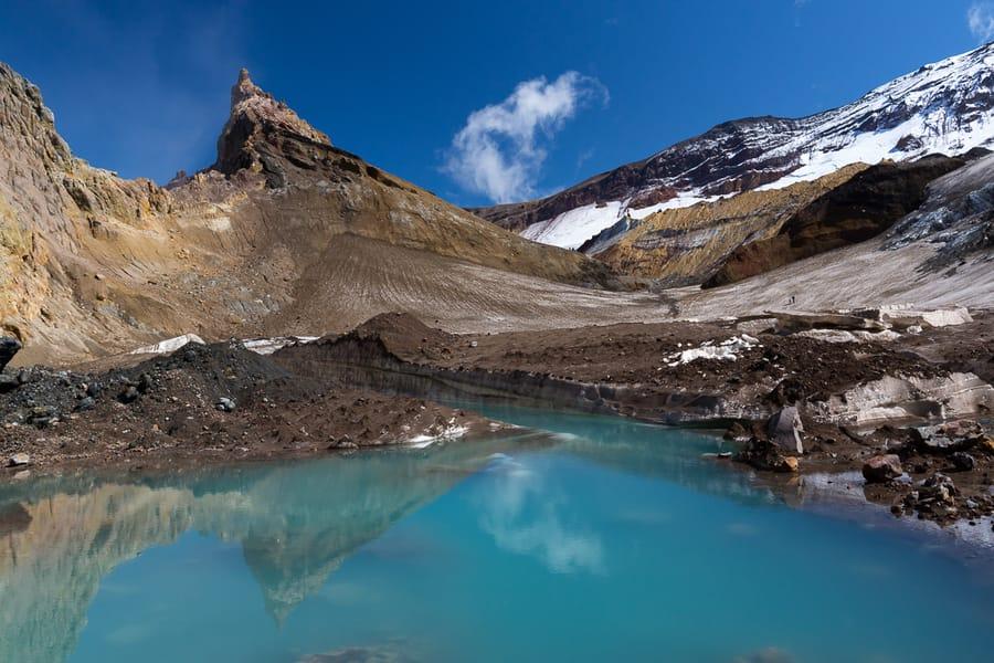 piscinas de lodo volcán Mutnovsky viaje fotografico por kamchatka
