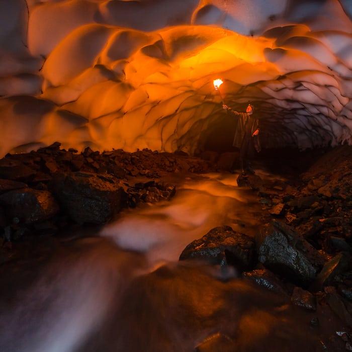 kamchatka photo tour glacier ice cave