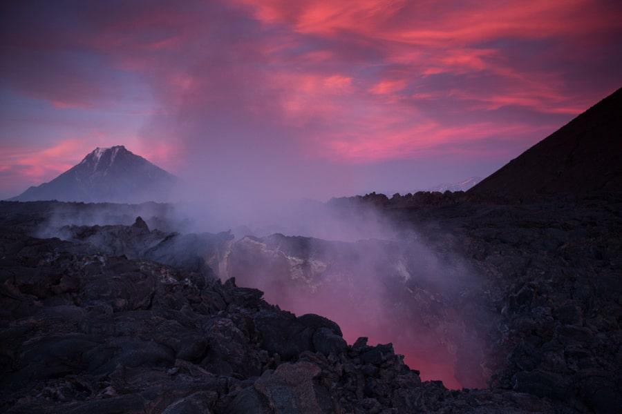 volcanic eruption kamchatka photography tour russia