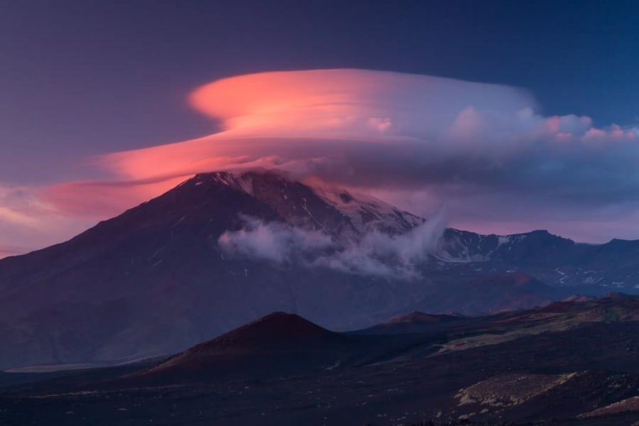 lenticular clouds kamchatka photo tour in group