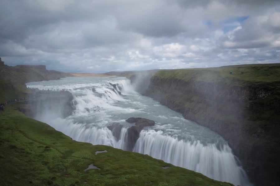 best places to visit in iceland golden circle gullfoss waterfal