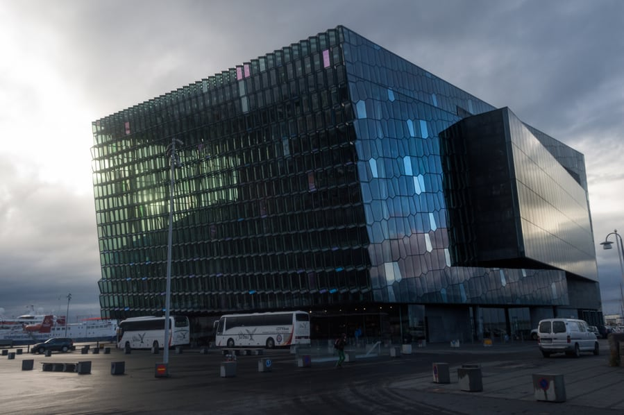 harpa glass building in reykjavik best places to visit in iceland