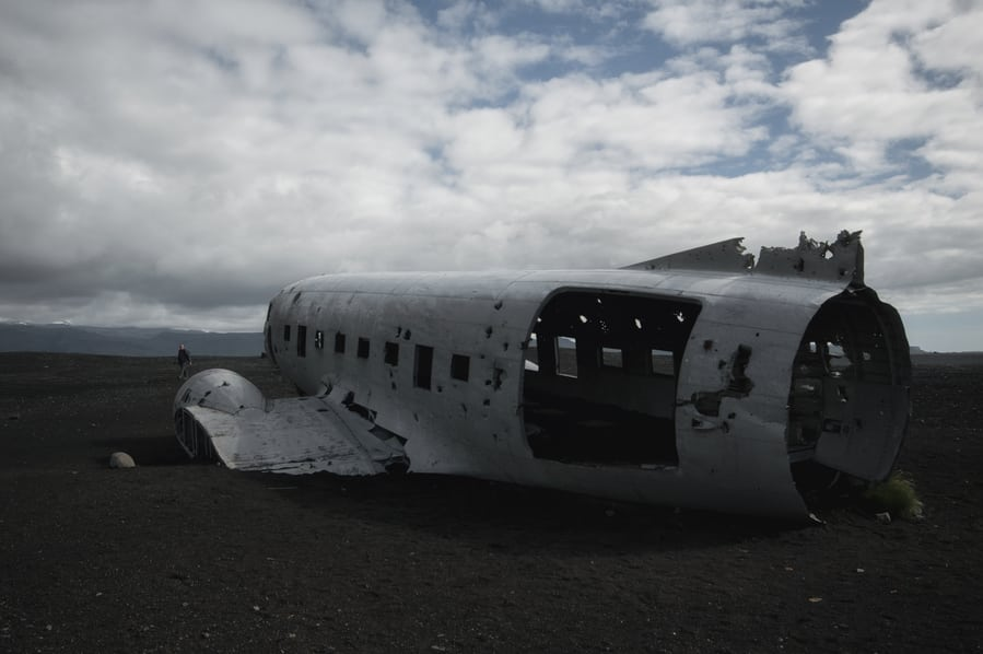 Solheimasandur plane wreck places you cannot miss in iceland