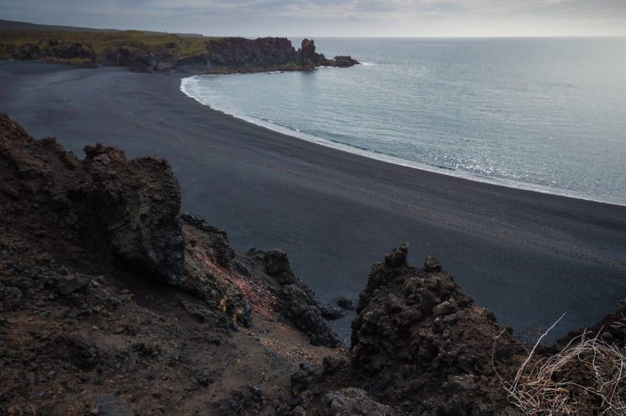 DJÚPALÓNSSANDUR black sand beach in iceland snaefellsnes