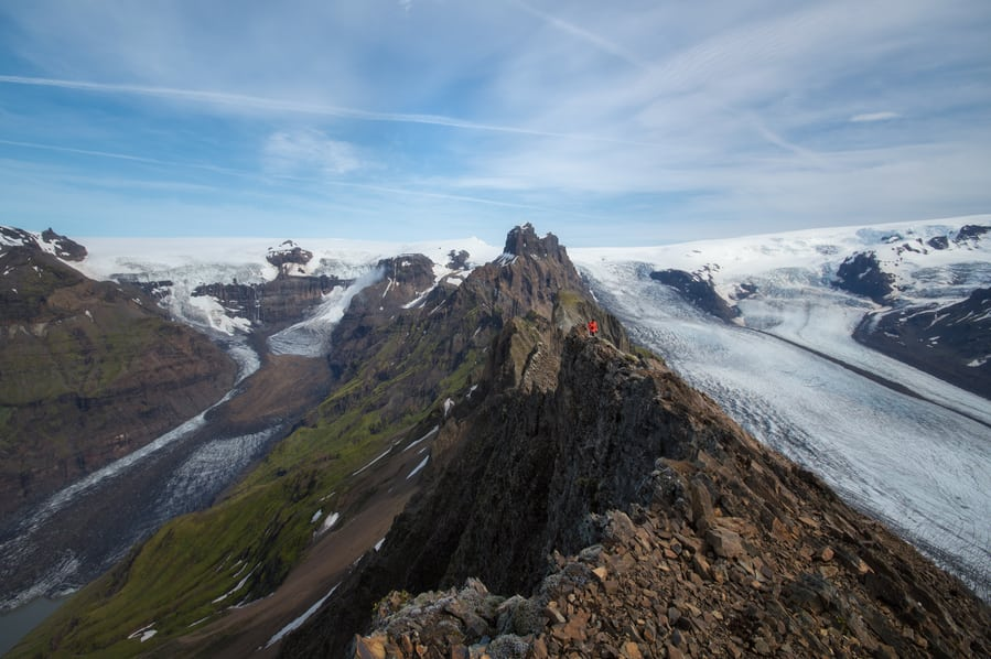 trekking glacier Svinafellsjokull best time to travel to iceland for hiking