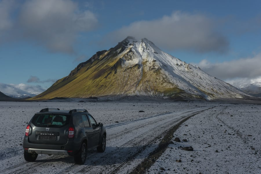 car rental iceland 4x4 f road map highlands