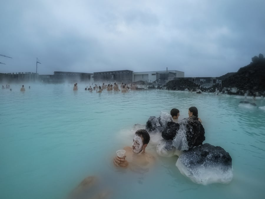 Bathe in the Blue Lagoon, one of the best things to do near Reykjavík