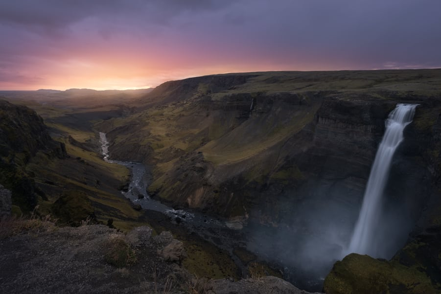 haifoss waterfall trip to iceland vacations