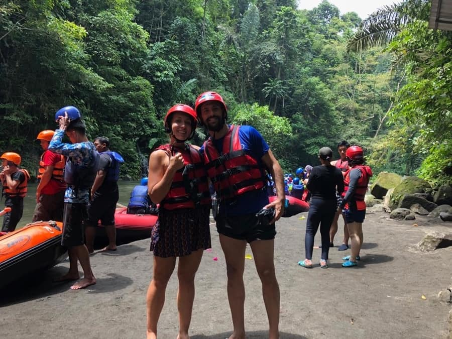 rafting in ayung river, something fun to do in Bali