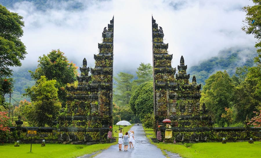 One of the best things to visit in Bali is Handara Gate