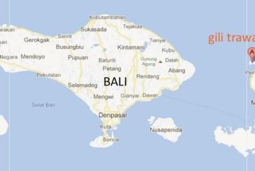 mapa de bali por regiones