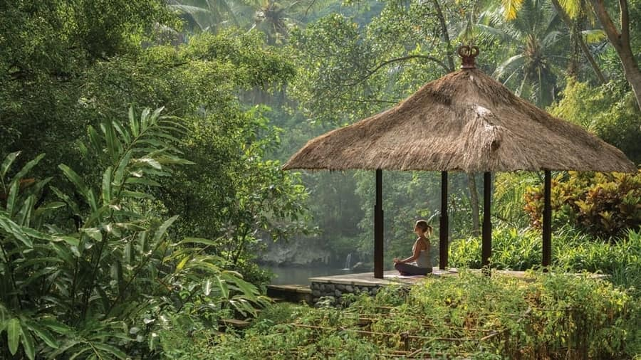 yoga villa in bali quietness in the jungle